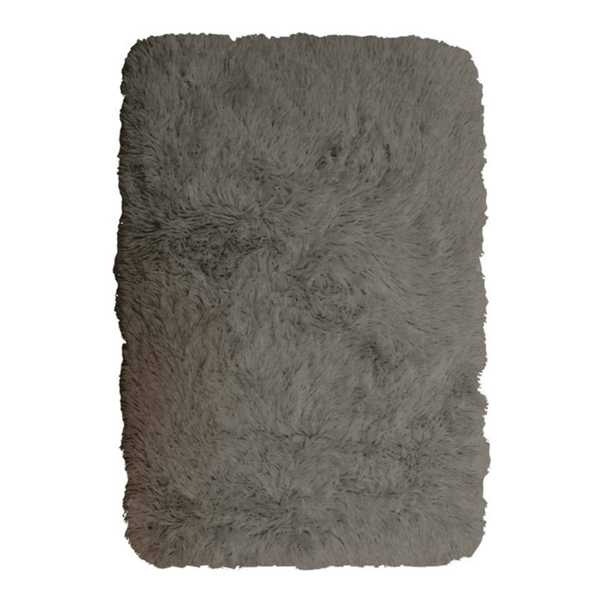 TheDecoFactory NEO YOGA - Tapis à poils longs extra-doux taupe 60x90 Taupe