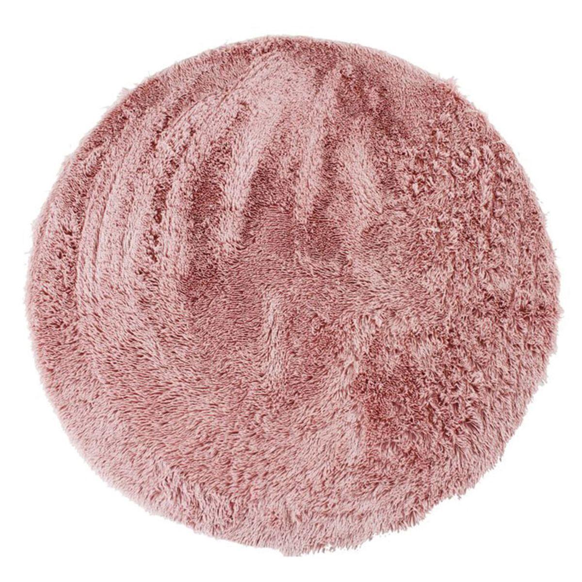 TheDecoFactory NEO YOGA - Tapis rond à poils longs extra-doux rose diam.160 Rose