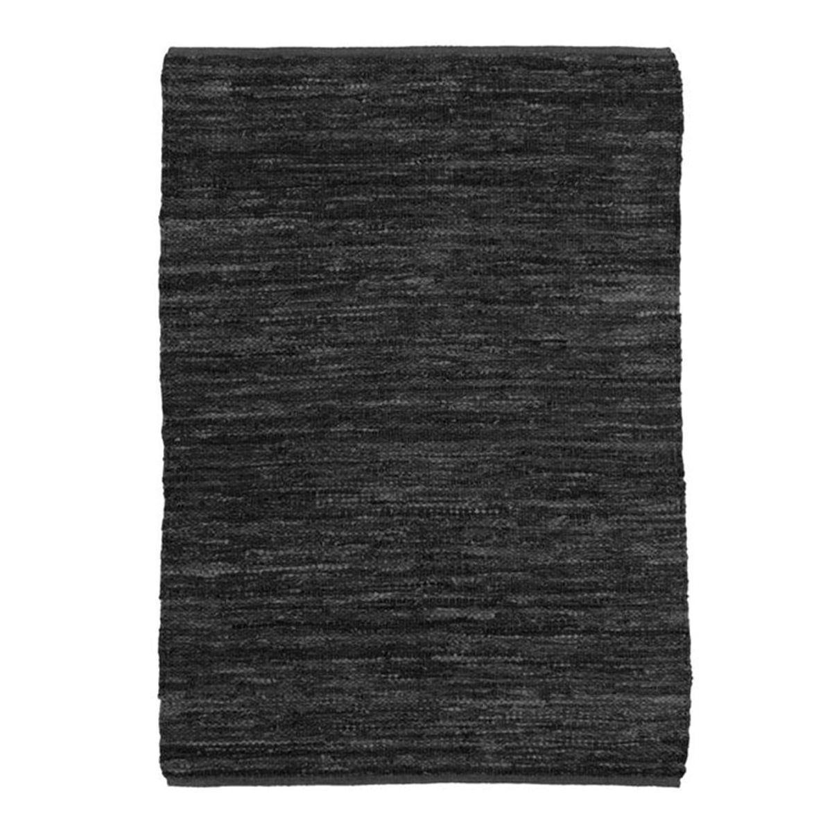 TheDecoFactory SKIN - Tapis en cuir tressé noir 160x230 Noir