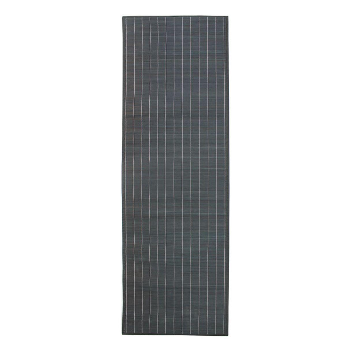 TheDecoFactory BALI CHIC - Tapis en bambou noir 200x65 Gris