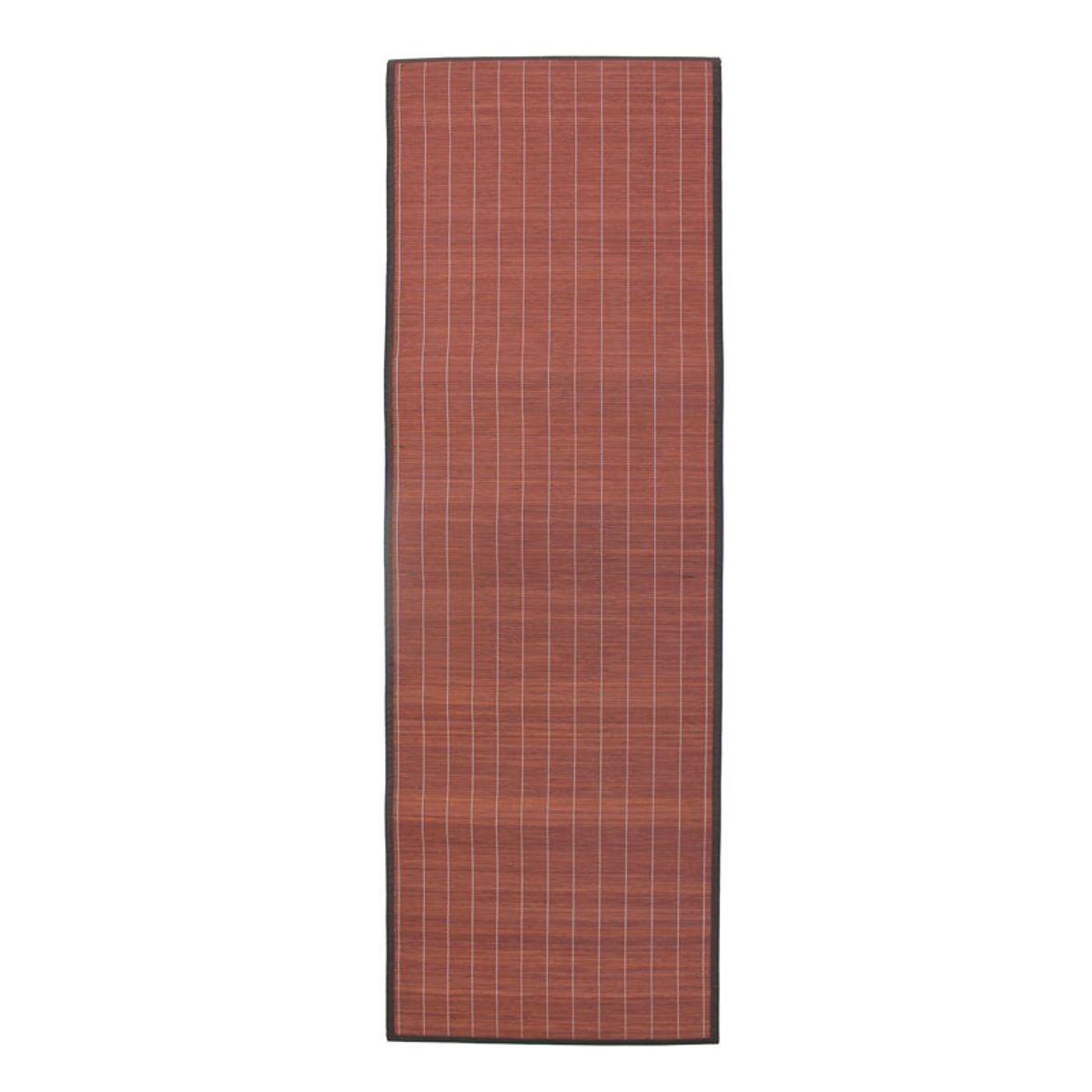 TheDecoFactory BALI CHIC - Tapis en bambou chocolat 200x65 Marron