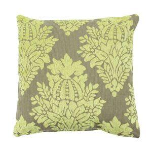 TheDecoFactory FLORALIES - Coussin en coton tissé déhoussable à motifs fleur de lys vert 43x43 Vert