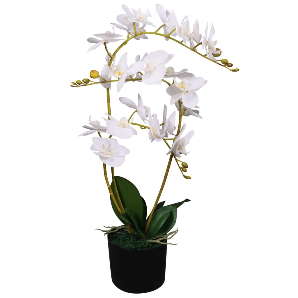 vidaXL Plante artificielle avec pot Orchidée 65 cm Blanc