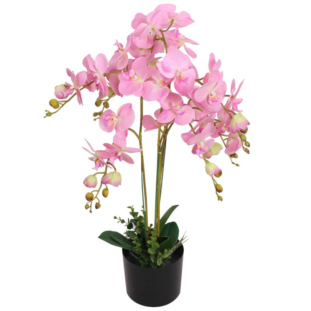 vidaXL Plante artificielle avec pot Orchidée 75 cm Rose
