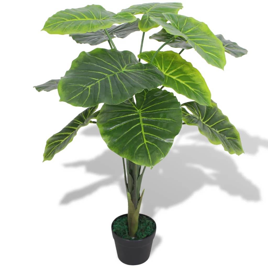 vidaXL Plante artificielle avec pot Taro 70 cm Vert