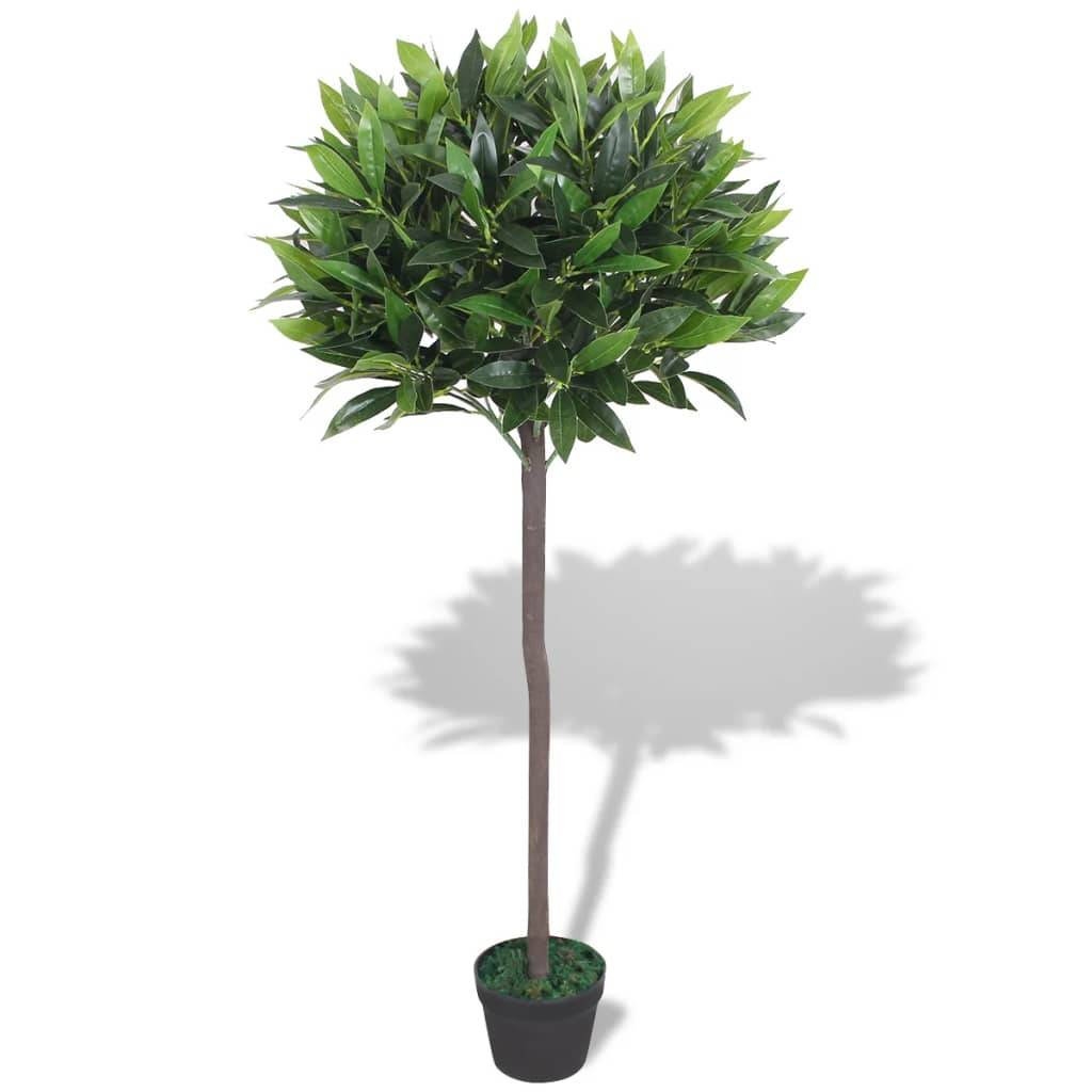 vidaXL Laurier artificiel avec pot 125 cm Vert
