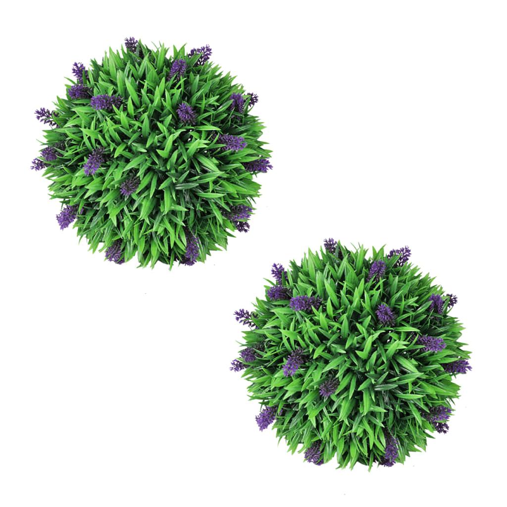 vidaXL 2 boules de lavande artificielle 36 cm
