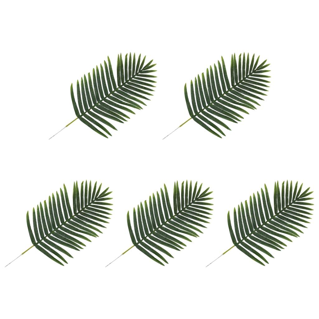 vidaXL 5 pcs Feuilles artificielles de palmier Vert 95 cm