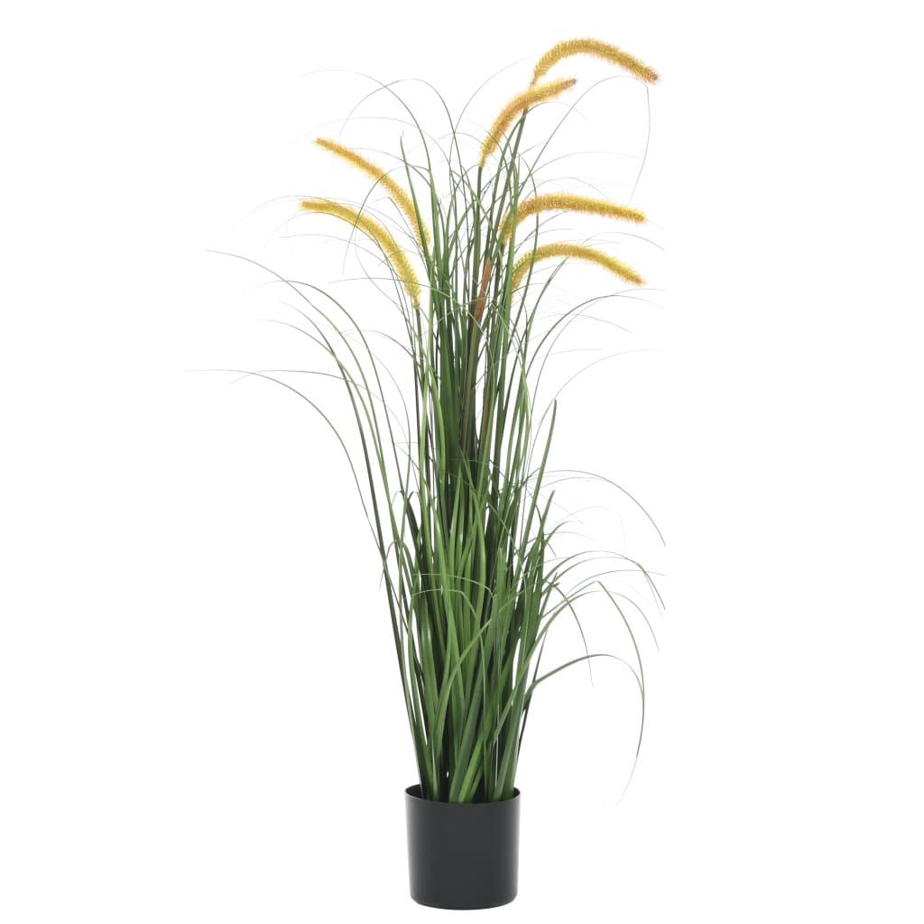 vidaXL Plante artificielle à herbe avec quenouille 110 cm