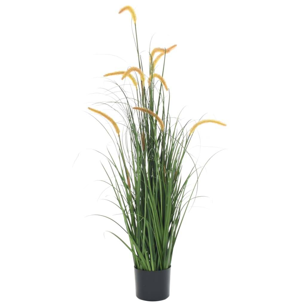 vidaXL Plante artificielle à herbe avec quenouille 135 cm