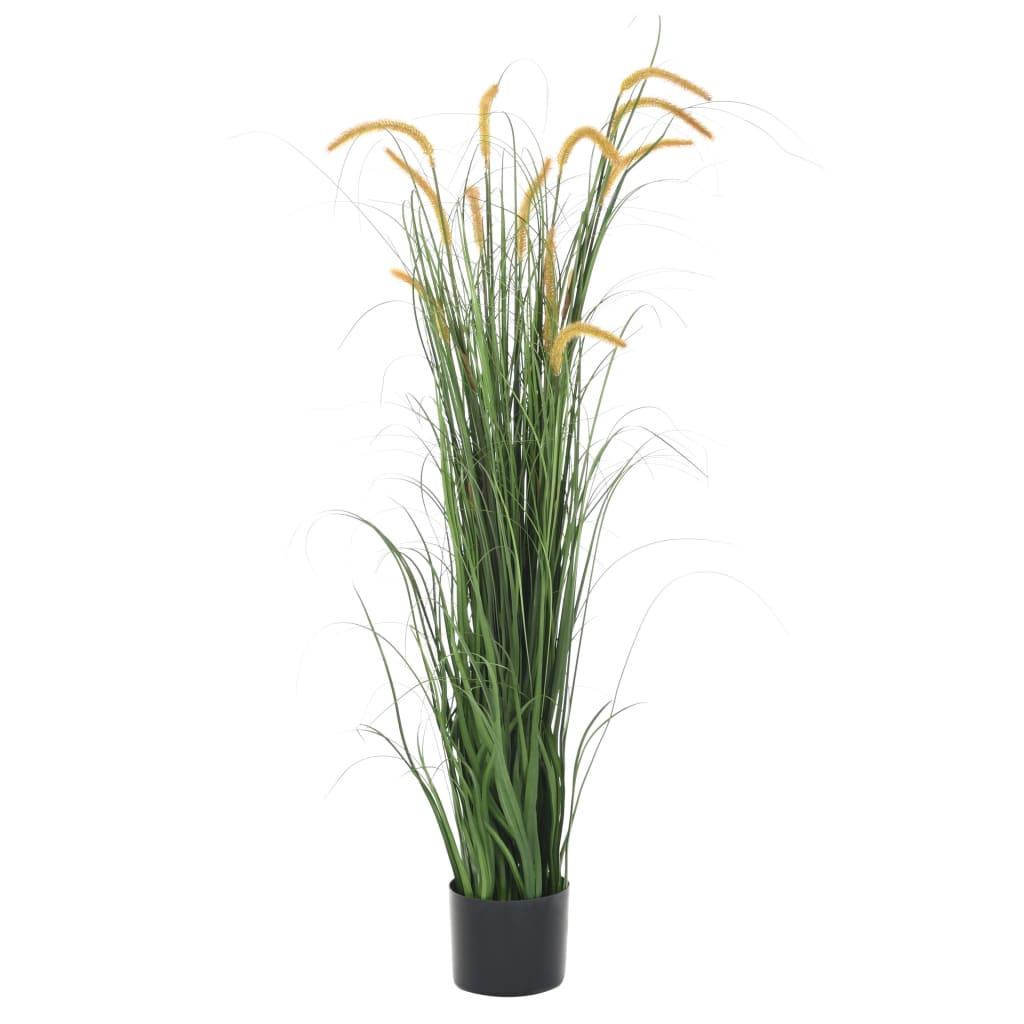 vidaXL Plante artificielle à herbe avec quenouille 160 cm
