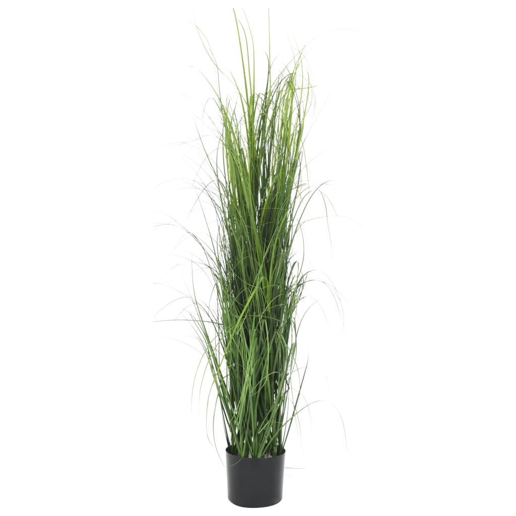 vidaXL Plante artificielle à herbe Vert 130 cm