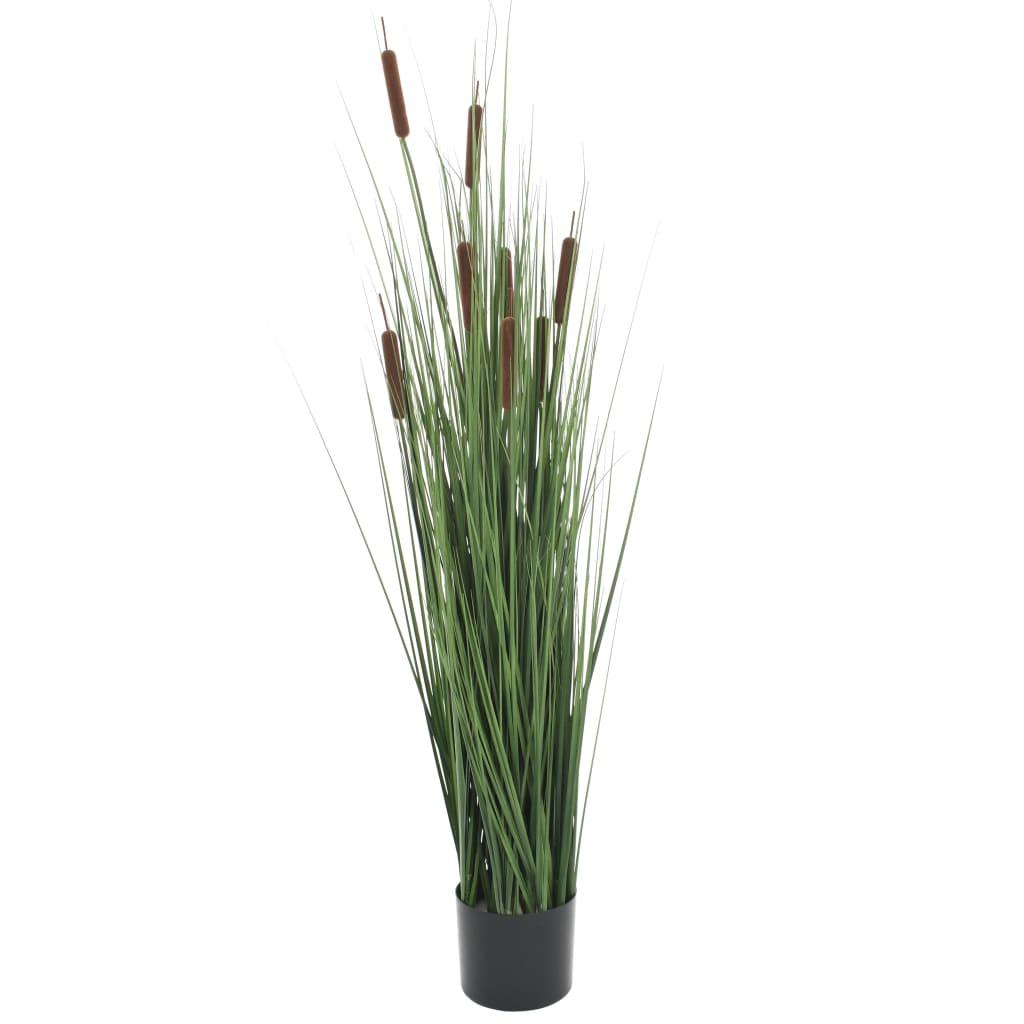 vidaXL Plante artificielle à herbe avec scirpe 120 cm