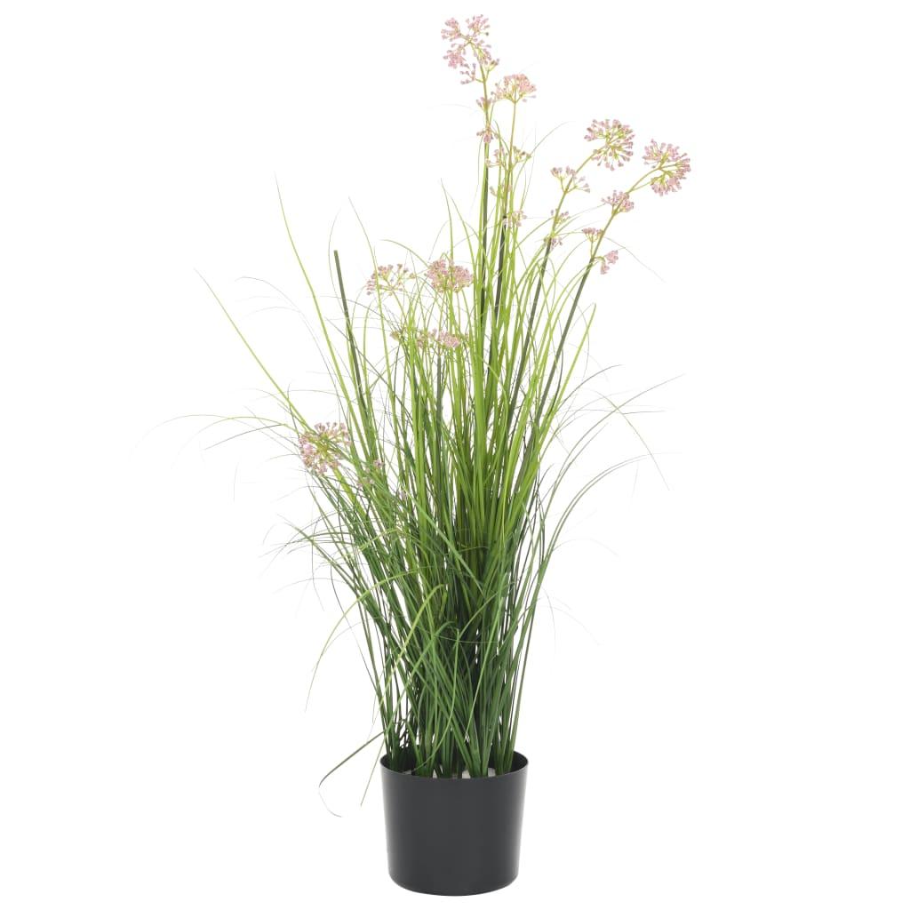 vidaXL Plante artificielle à herbe avec fleur 95 cm
