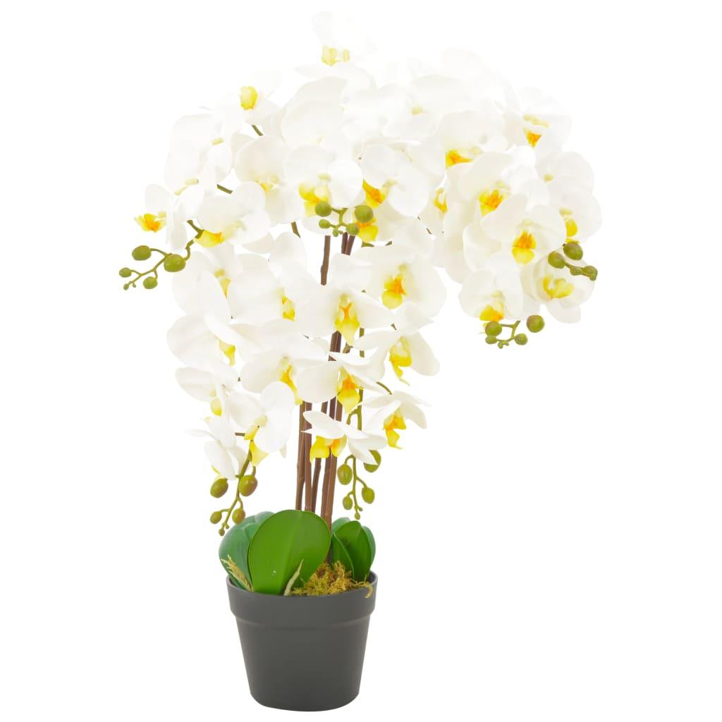 vidaXL Plante artificielle avec pot Orchidée Blanc 60 cm