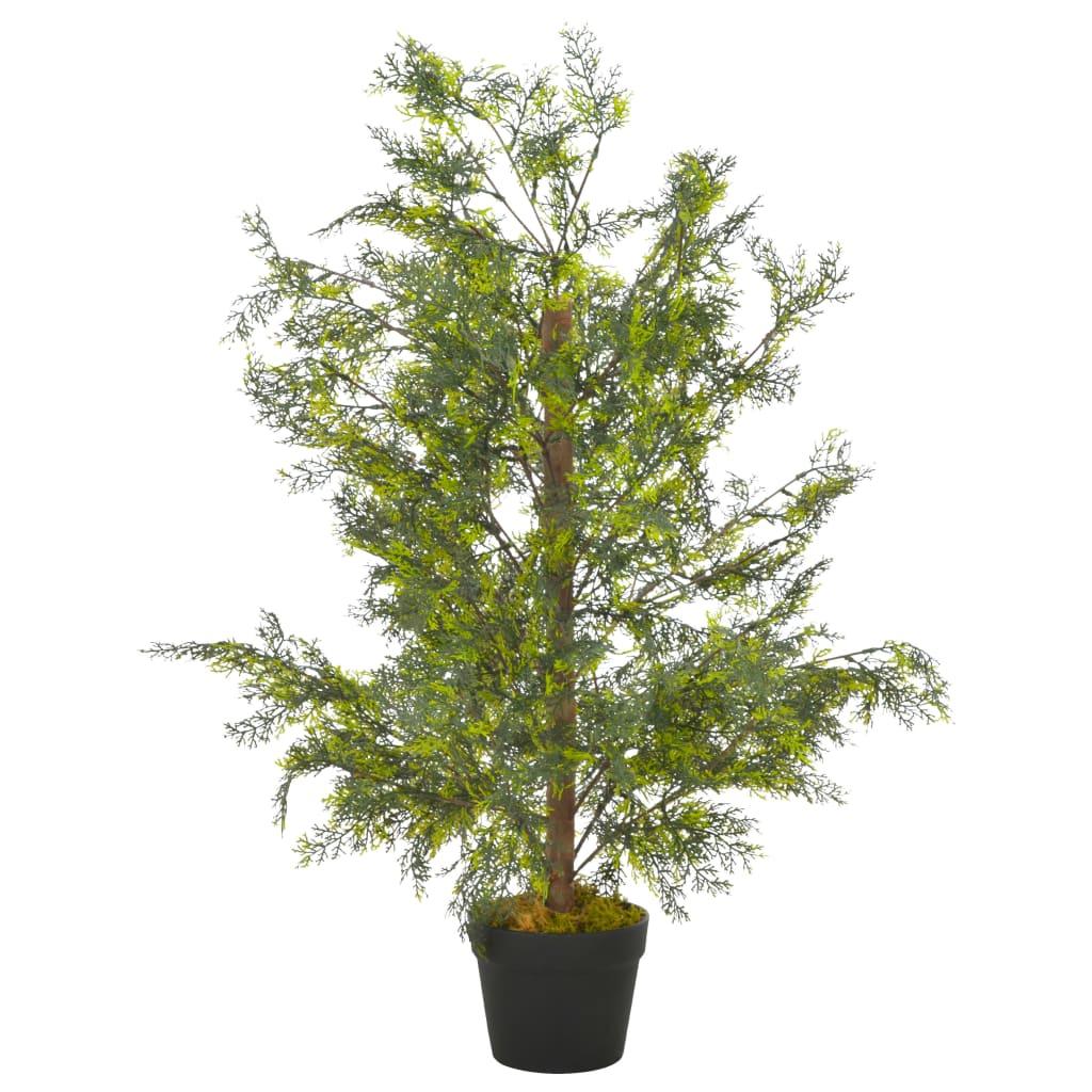 vidaXL Plante artificielle avec pot Cyprès Vert 90 cm