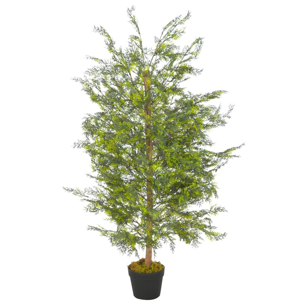 vidaXL Plante artificielle avec pot Cyprès Vert 120 cm