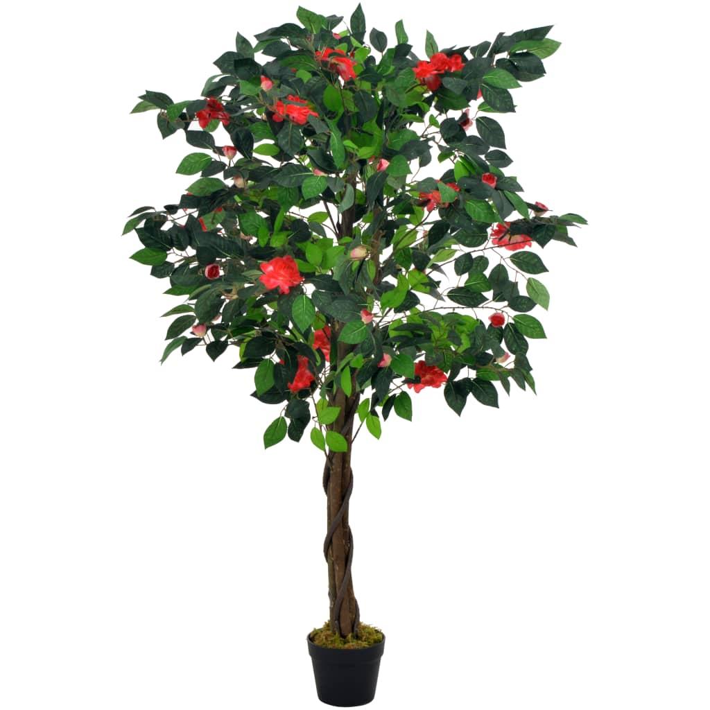 vidaXL Plante artificielle avec pot Camélia Vert 125 cm