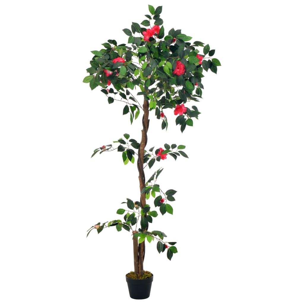 vidaXL Plante artificielle avec pot Camélia Vert 160 cm