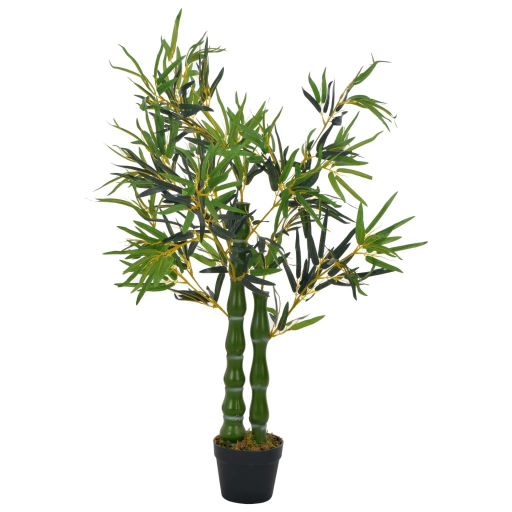 vidaXL Plante artificielle avec pot Bambou Vert 110 cm