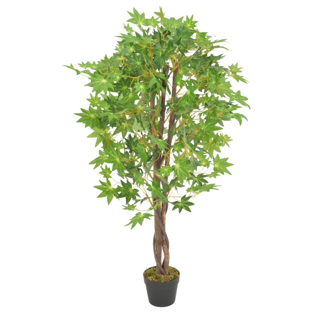 vidaXL Plante artificielle d'érable avec pot Vert 120 cm
