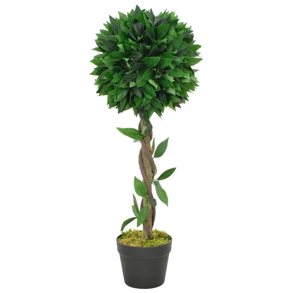 vidaXL Plante artificielle Laurier avec pot Vert 70 cm