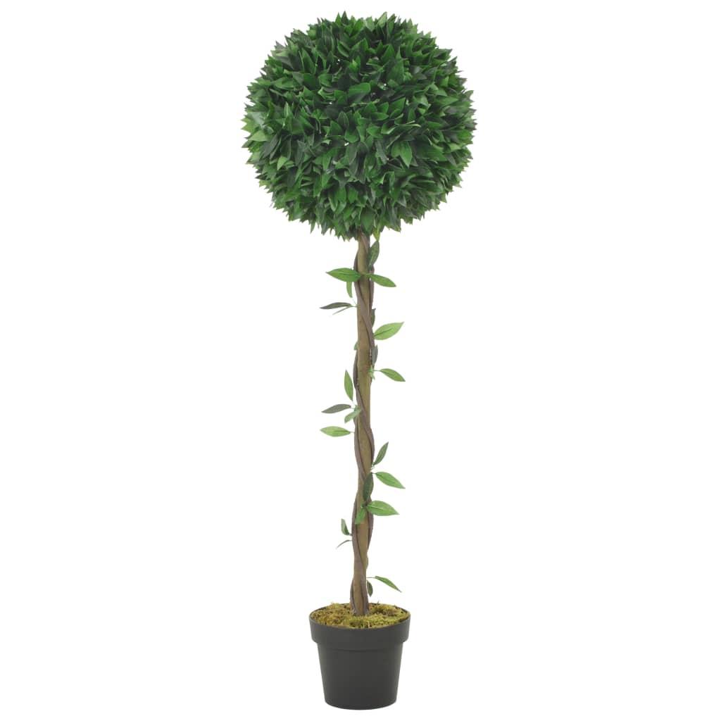 vidaXL Plante artificielle Laurier avec pot Vert 130 cm