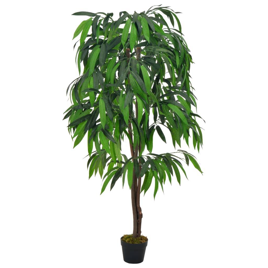 vidaXL Plante artificielle Manguier avec pot Vert 140 cm