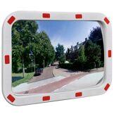 vidaXL Miroir de trafic convexe rectangulaire 40x60cm avec réflecteurs