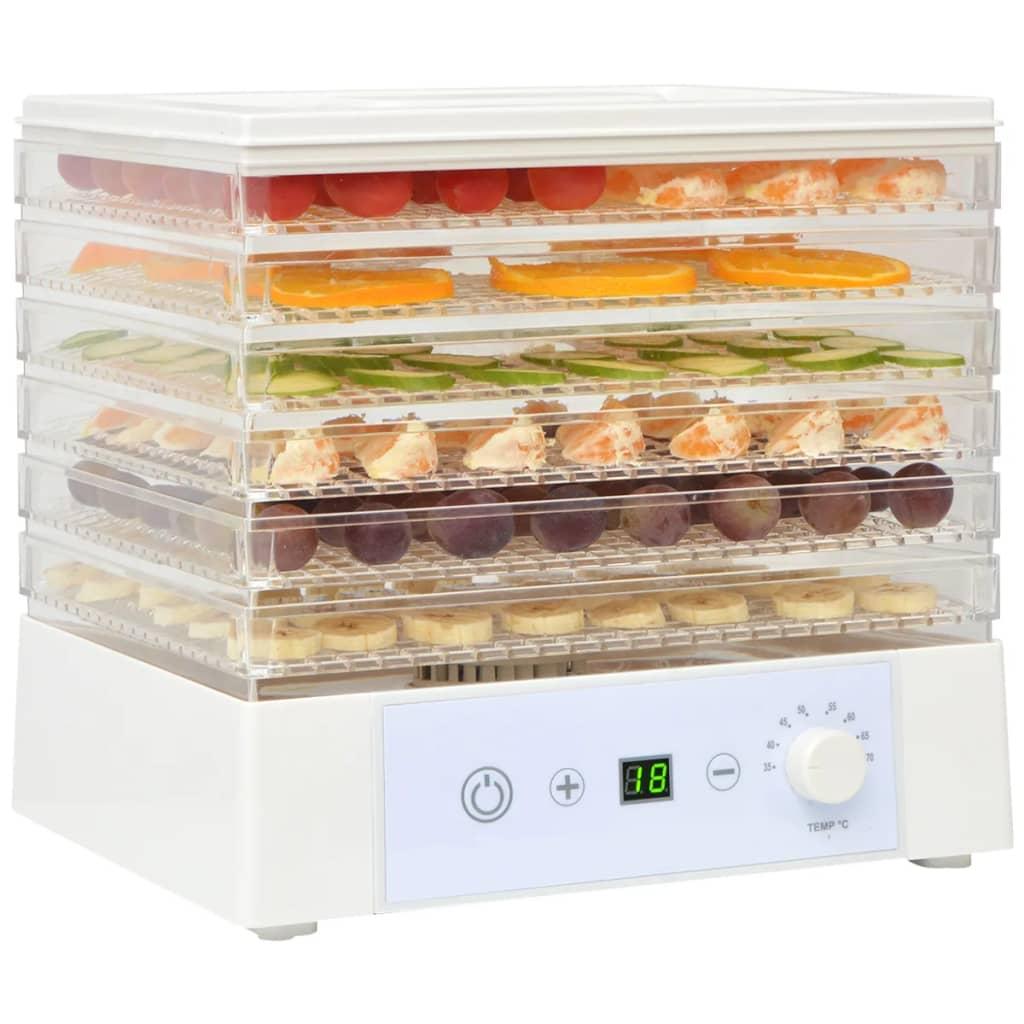 vidaXL Déshydrateur alimentaire avec 6 plateaux 250 W Blanc