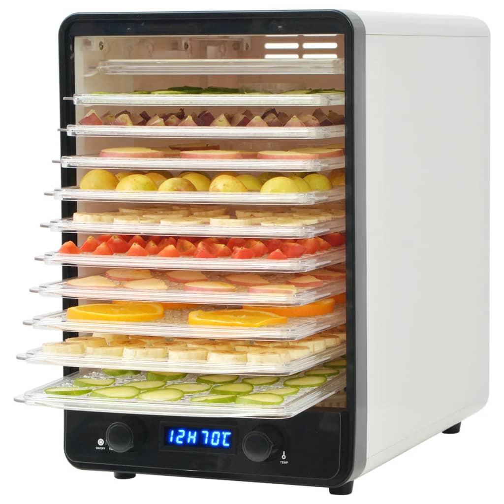 vidaXL Déshydrateur alimentaire avec 10 plateaux 550 W Blanc