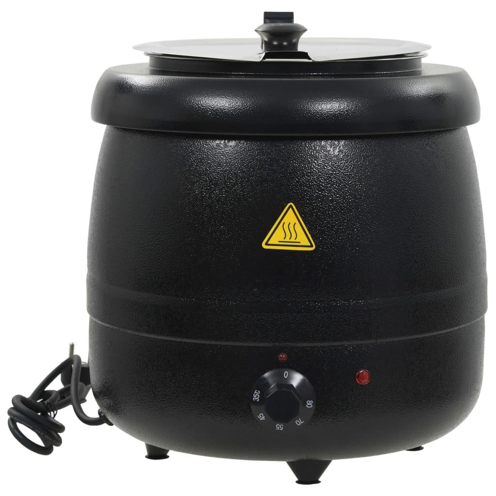 vidaXL Marmite à soupe électrique Aluminium 10 L 400 W 34x34x37 cm