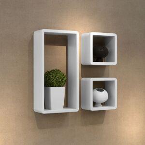 vidaXL Ensemble de 3 étagères cube - Publicité