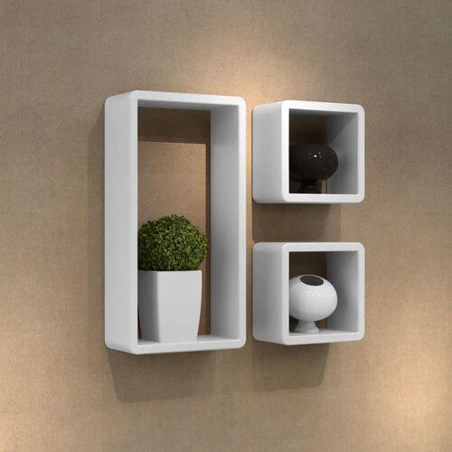 vidaXL Ensemble de 3 étagères cube