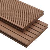 vidaXL Panneaux de terrasse WPC solides 30 m² 4 m Marron Clair