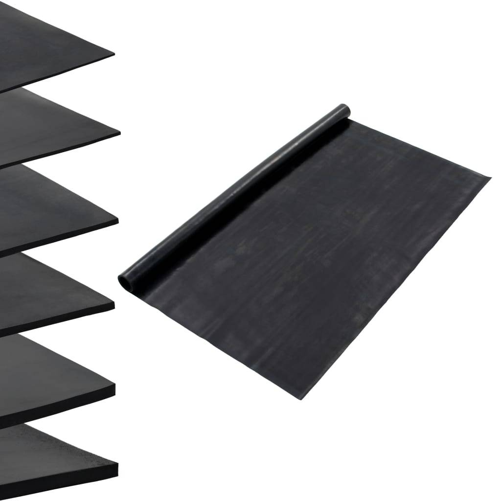 vidaXL Tapis en caoutchouc antidérapant 1,2x5 m 1 mm Lisse