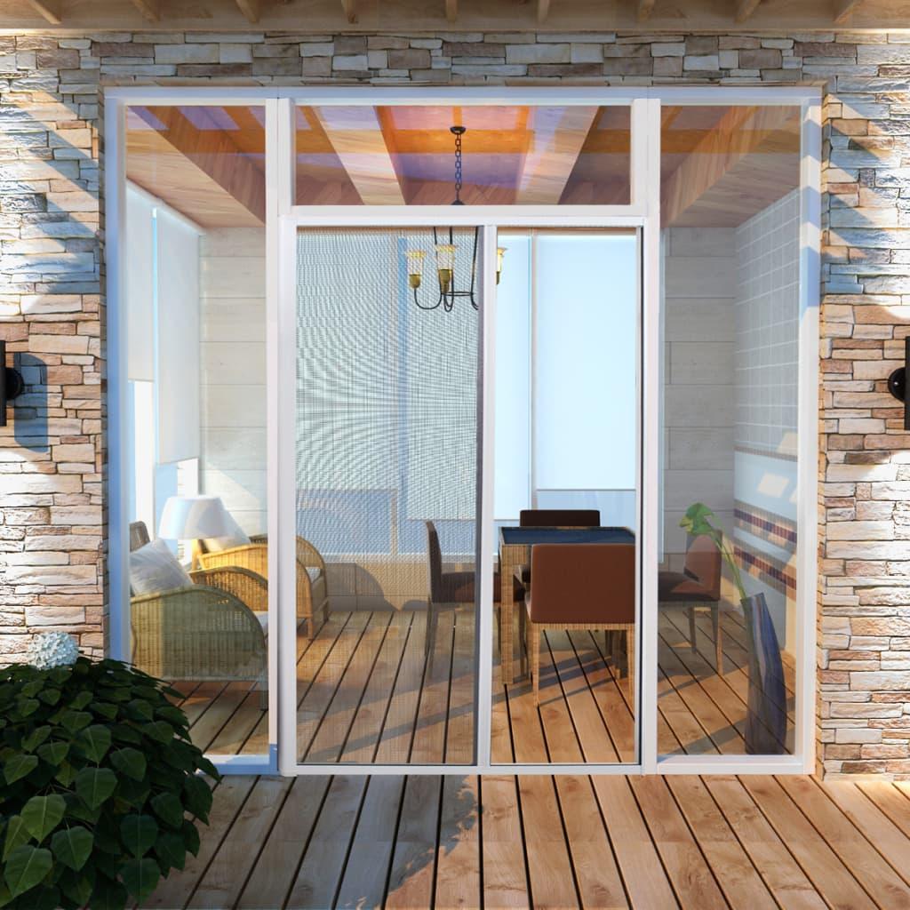 vidaXL Moustiquaire coulissante pour portes Blanc 120x215 cm