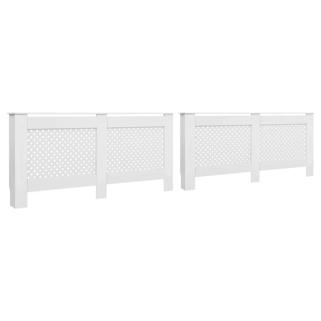 vidaXL Cache-radiateurs 2 pcs Blanc 152x19x81,5 cm MDF