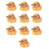 vidaXL Sangle d'arrimage à cliquet 10 pcs 1 tonne 6 m x 38 mm Orange