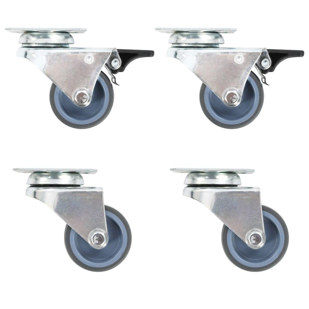 vidaXL 32 pcs Roulettes pivotantes doubles 50 mm