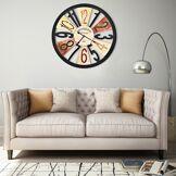 vidaXL Horloge murale Métal 60 cm Multicolore
