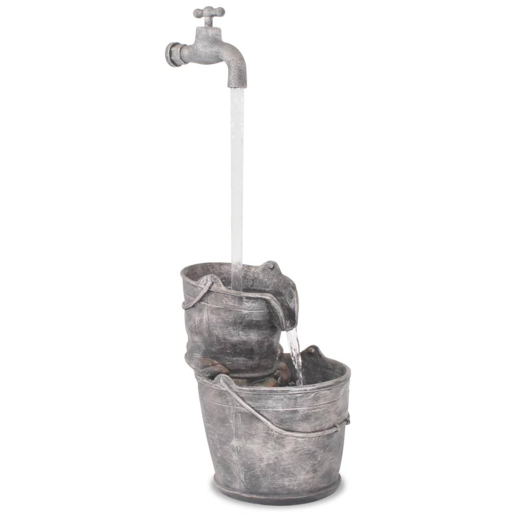 vidaXL Fontaine avec robinet et seaux Polyrésine