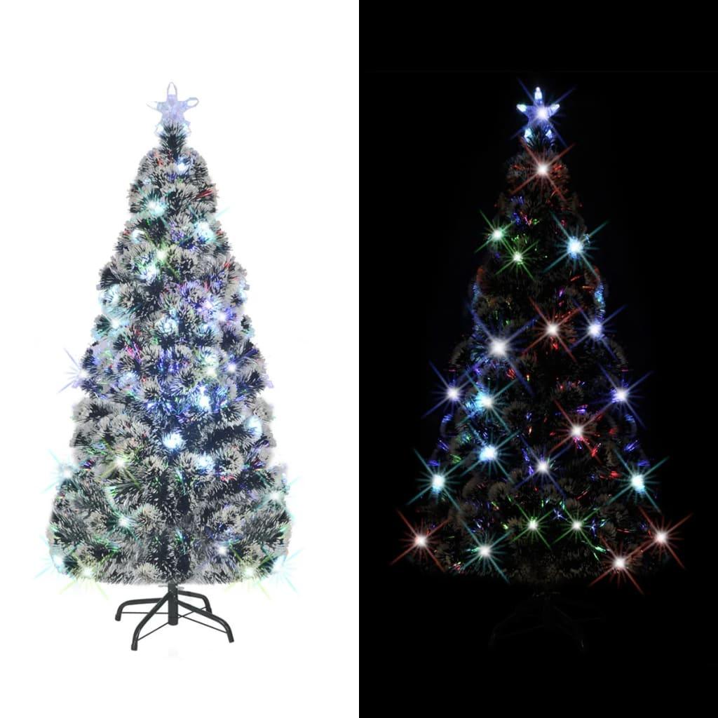 vidaXL Arbre de Noël artificiel et support/LED 210 cm 280 branches
