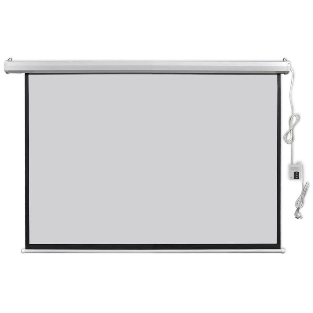 vidaXL Écran de projection électrique avec télécommande 160x90 cm 16:9