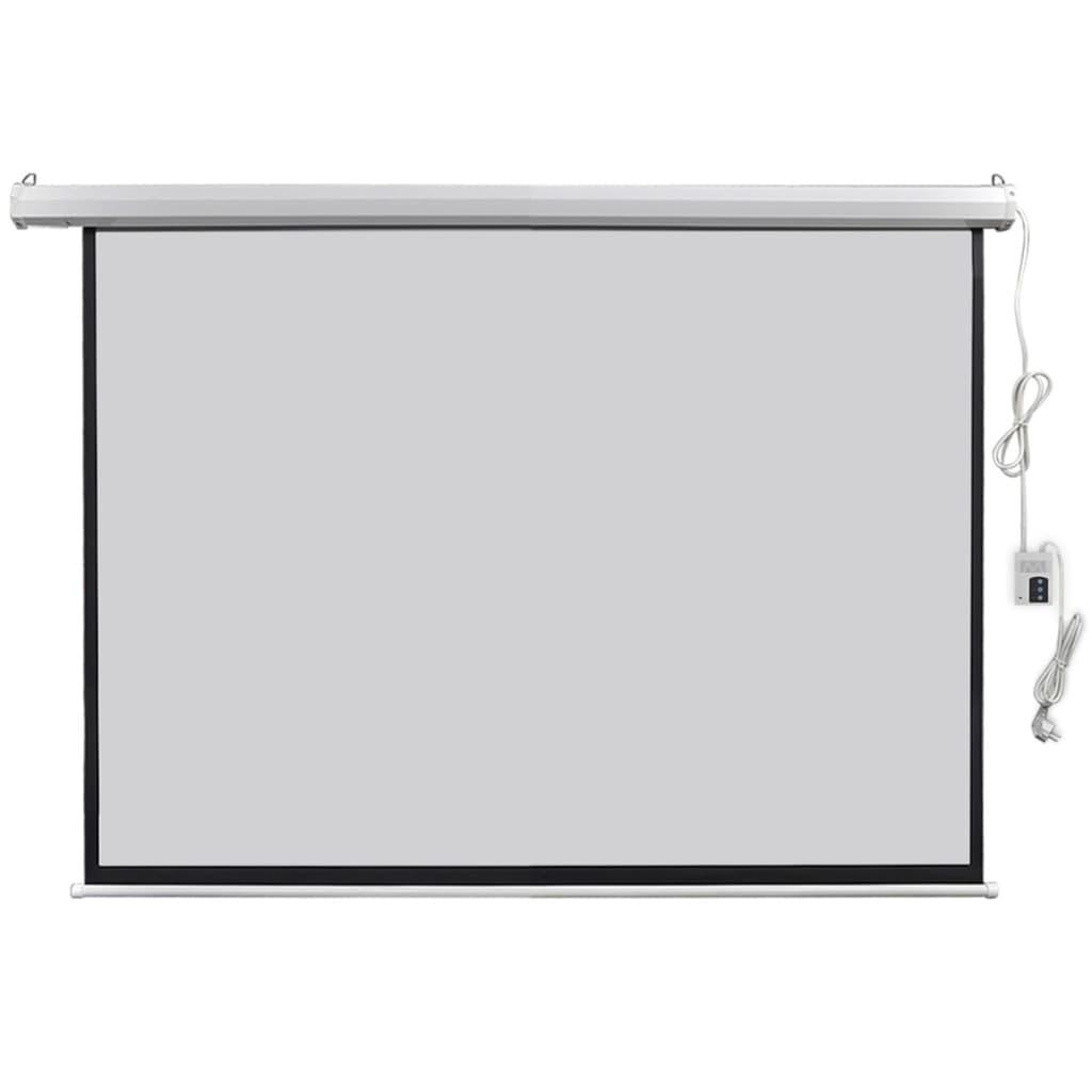 vidaXL Écran de projection électrique avec télécommande 160x123 cm 4:3
