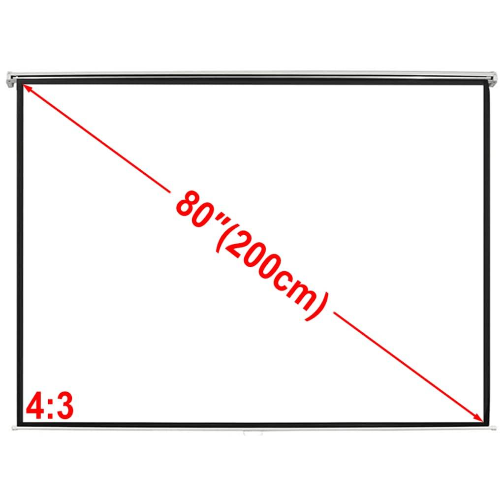 vidaXL Ecran de projection manuel 160 x 123 cm 4:3