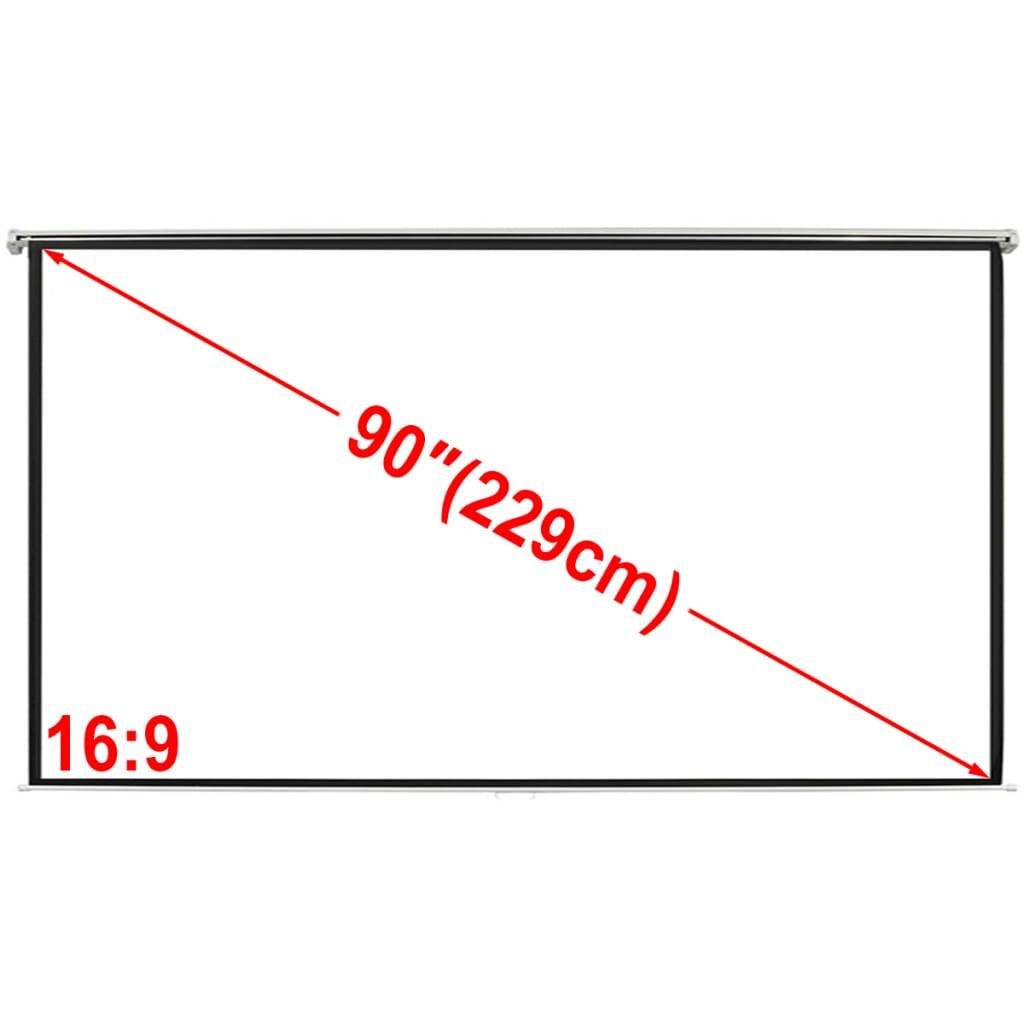 vidaXL Ecran de projection manuel 200 x 113 cm 16:9