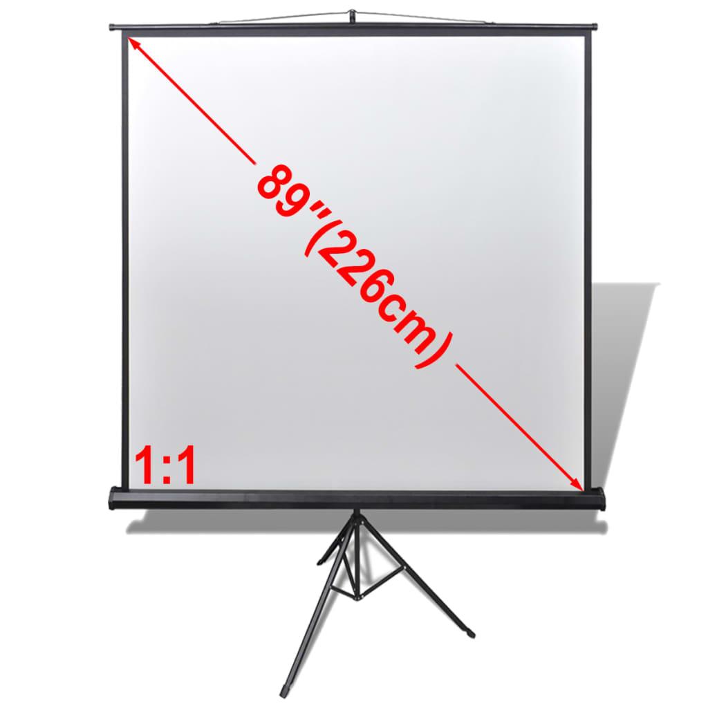 vidaXL Ecran de projection manuel avec trépied réglable 160 x 160 cm 1:1