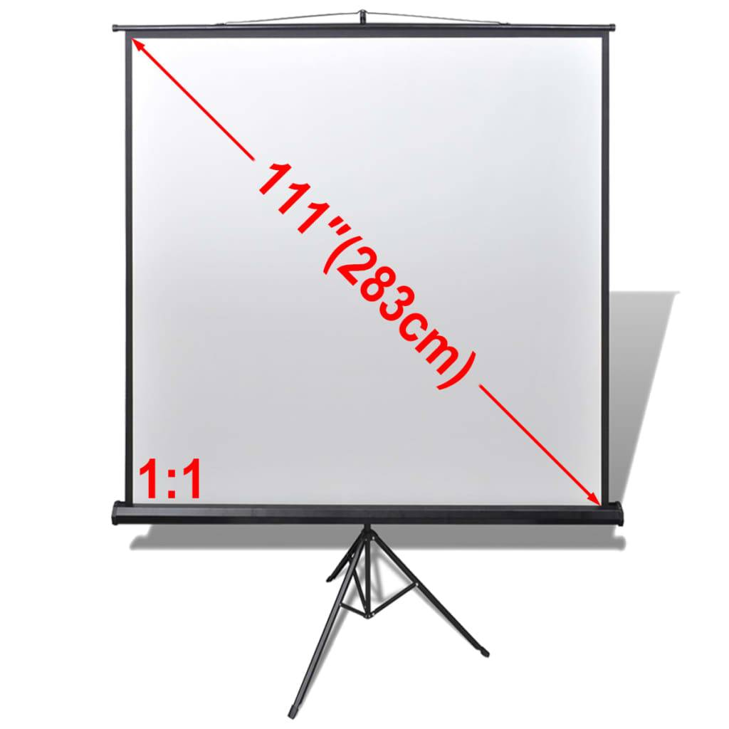 vidaXL Ecran de projection manuel avec trépied réglable 200 x 200 cm 1:1