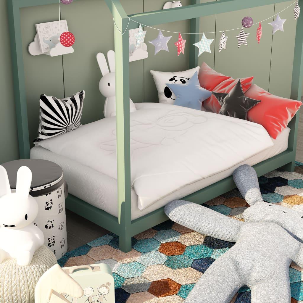 vidaXL Jeu de couette pour enfants 3 pcs Blanc 120x150 cm/40x60 cm